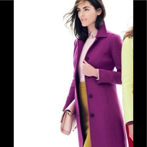 J.crew lady day coat with thinsalute plum